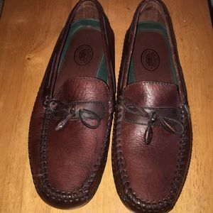 H.S.TRASK 10.5M Leather Driving Loafer Moccasin